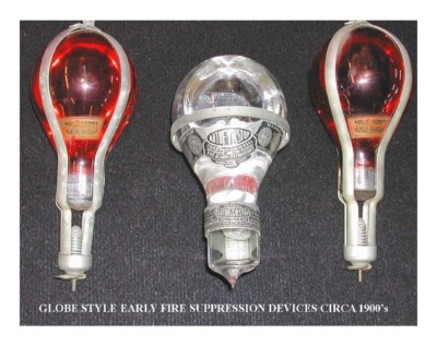 Globe Type Early Fire Suppression Devices Circa 1900s
