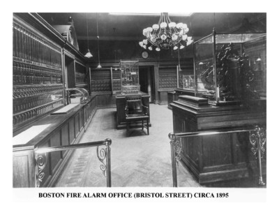 Boston Fire Alarm Office (Bristol Street) Circa 1895