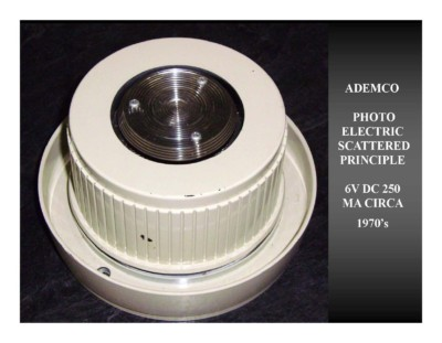 ADEMCO Photo Electric Scattered Principle 6V DC 250 MA (circa 1970s)