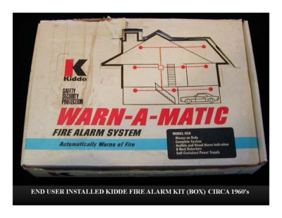 End User Installed Kidde Fire Alarm Kit Box (circa 1960s)