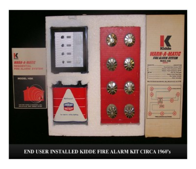 End User Installed Kidde Fire Alarm Kit (circa 1960s)