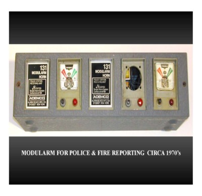 Modularm for Police & Fire Reporting (circa 1970s)