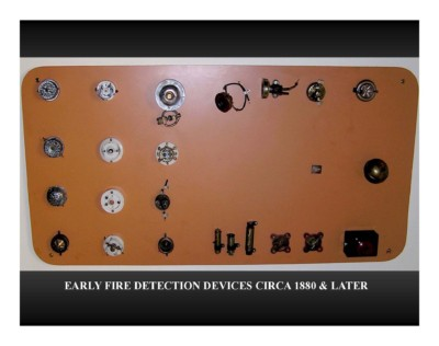 Early Fire Detection Devices (circa 1880 & later)