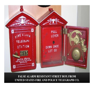 False Alarm Resistant Street Box from Unites States Fire & Police Telegraph Co.
