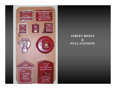 Street Boxes & Pull Stations