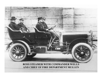 Ross Steamer with Commander Wells & Chief of Fire Dept Mullen