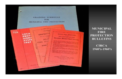 Municipal Fire Protection Bulletins (circa 1940s-1960s)