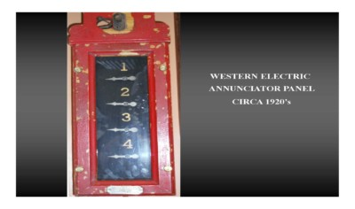 Western Electric Annunciator Panel (circa 1920s)