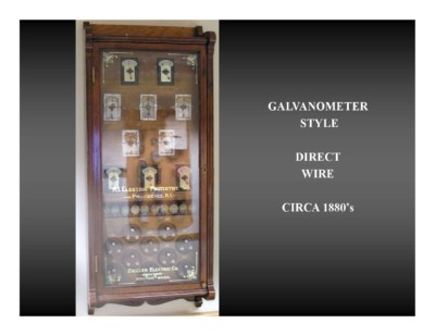 Galvanometer Style Direct Wire (circa 1880s)