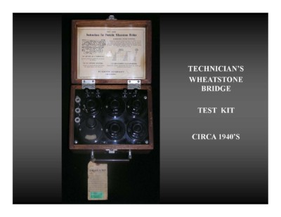 Technicians Wheatstone Bridge Test Kit (circa 1940s)