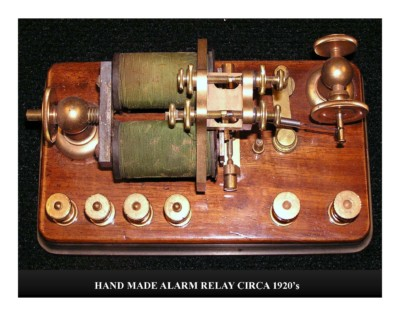 Hand Made Alarm Relay (circa 1920s)