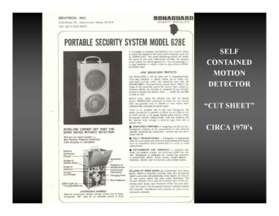 "Self Contained Motion Detector ""Cut Sheet"" (circa 1970s)"