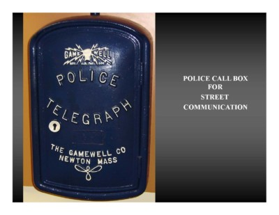 Police Call Box for Street Communication