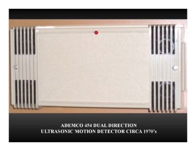 Ademco 454 Dual Direction Ultrasonic Motion Detector (circa 1970s)