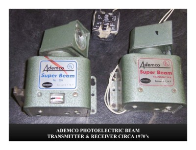 Ademco Photoelectric Beam Transmitter & Receiver (circa 1970s)