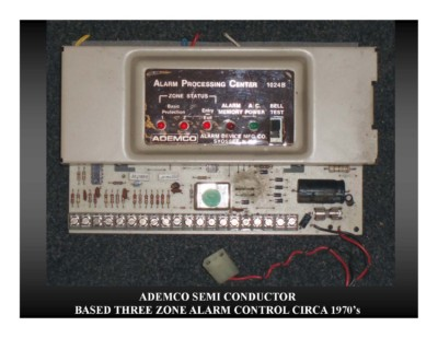 Ademco Semi Conductor Based Three Zone Alarm Control (circa 1970s)