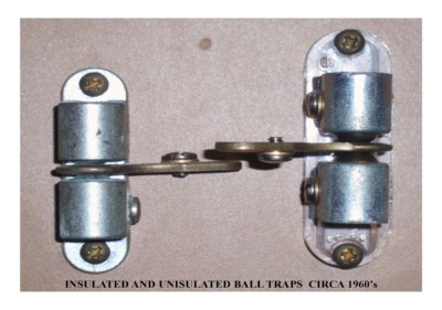 Insulated & Uninsulated Ball Traps (circa 1960s)