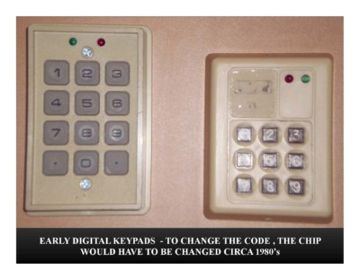 Early Digital Keypads (circa 1980s)