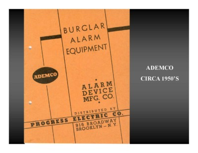 Ademco Equipment Catalog (circa 1950s)