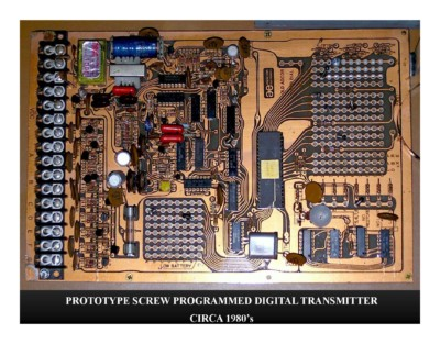 Prototype Screw Programmed Digital Transmitter (circa 1980s)