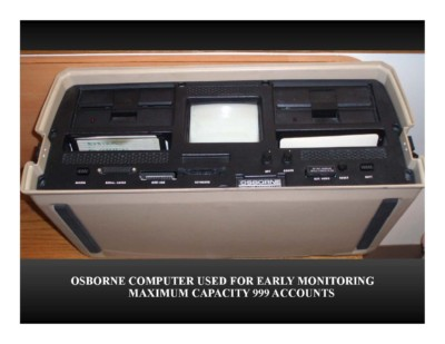 Osborne Computer Used for Early Monitoring